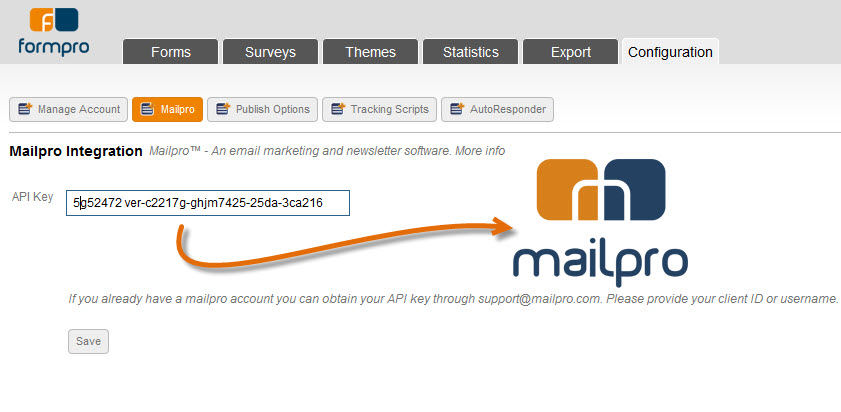 Link Formpro with Mailpro emailing